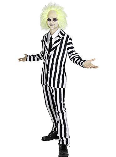 Funidelia | Disfraz de Beetlejuice Oficial para Hombre Talla M Tim Burton, Pelculas de Miedo, Terror