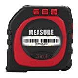 Digital Tape Measure - 3-In-1 Multi-Functional Digital Laser Tape Measure with Large LCD Backlight Display String Laser Roller Modes Measuring Tool
