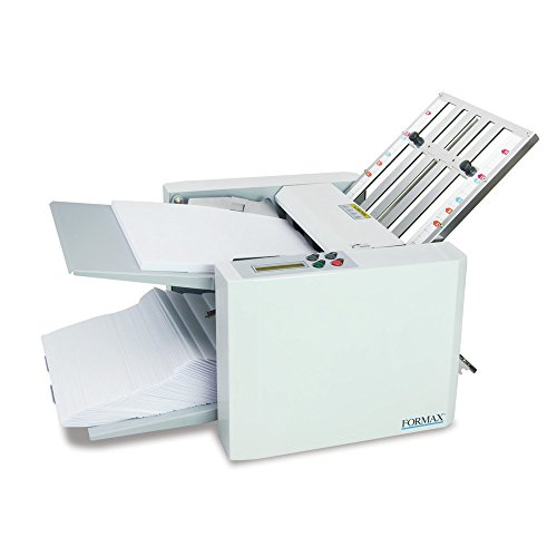 Formax FD 300 Document Folder, LCD Control Panel with 3-digit Resettable Counter, Folds Up To 7400 Sheets per Hour, Output Conveyor for Neat and Sequential Stacking