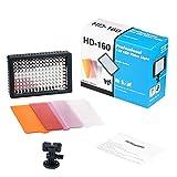 Cxjff 160LED Licht LED-Videoleuchte auf-Kamera-Fotografie-Beleuchtung Aufhellen for Canon/Nikon DSLR-Kamera (schwarz)