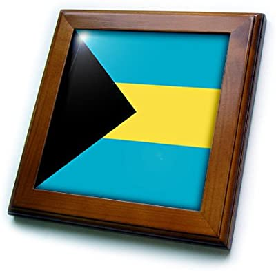 3dRose ft/_28279/_1 Panama Flag-Framed Tile 8 by 8-Inch