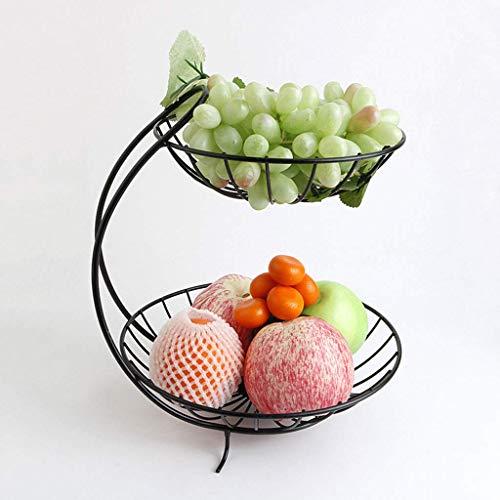 Fruit Bowl Fruit Tray 2 Tier Chrome Fruit Vegetable Basket Bowl Steel Wire Rack Stand Storage Holder Modern Style Stainless Steel Chrome Plated Fruit & Veg Basket Bowl