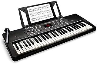 Alesis Melody 54 - Teclado Electrónico Portátil con 54 Teclas de Estilo Piano, Altavoces Integrados, Micrófono y Atril, 300 Sonidos y 300 Ritmos, 40 Canciones Demo, Características Educativas