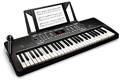 Alesis Melody 54 Key Electric Keyboard Piano with Speakers, Microphone, Music Rest, Educational Tools, 300 Sounds, 300 Rhythms and 40 Demo Songs