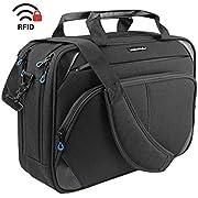 KROSER Laptop Bag 15.6 Inch Laptop Briefcase Laptop Messenger Bag Water Repellent Computer Case Laptop Shoulder Bag Durable Tablet Sleeve with RFID Pockets for Business/College/Women/Men
