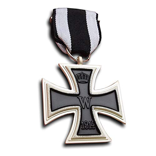 uno dei più famosi di tutti i premi tedeschi-il Croce di Ferro 1914 Riproduzione di qualità Dimensioni: 43 x 43 mm Peso : circa 24 grammi un regalo molto speciale per ogni collezionista o amante di militaria