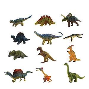 OMZGXGOD - Dinosaurios Juguetes,Conjunto de 12 Piezas de Juguete de Mini Dinosaurio,Juguete Dinosaurio Adecuado para la decoración de la Fiesta de cumpleaños de los niños