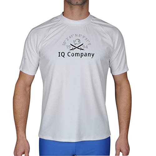 iQ-Company Herren T-Shirt UV-Schutz 300 Loose Fit Watersport 94, weiß (white), M (50)