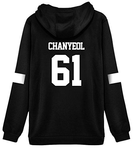 Kpop EXO Hoodie Sweater Chanyeol Sehun Kai Jacket Pullover