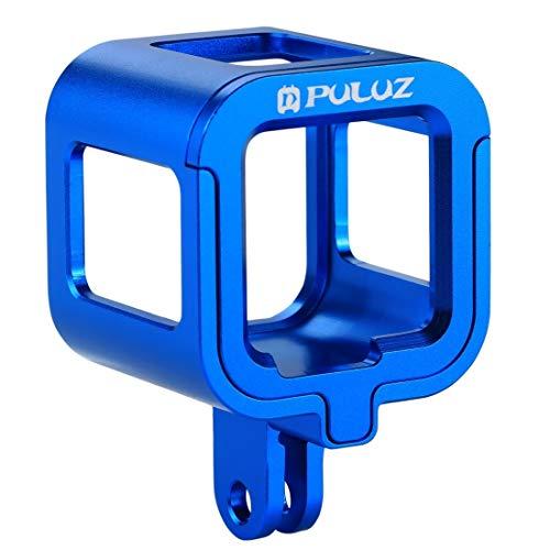 SNUIX Carcasa Jaula Protectora de aleación de Aluminio CNC con Marco de Seguro for GoPro HERO5 Session / HERO4 Session/Hero Session (Negro). (Color : Azul)