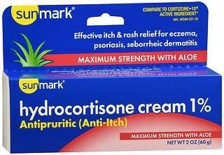 Sunmark Hydrocortisone Cream 1% Popular brand in the world Maximum Strength o - OFFer 2 With Aloe
