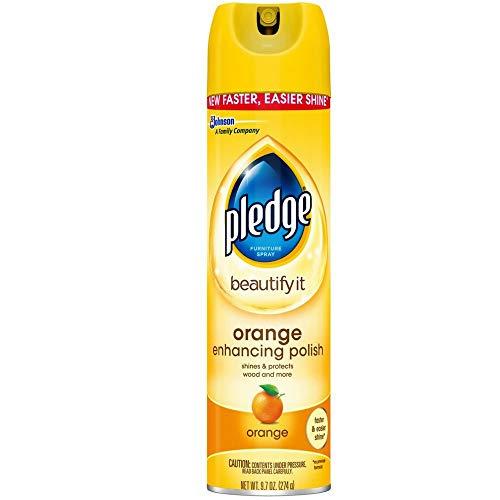 Pledge Orange Clean Furniture Spray 9.70 oz (Pack of 2)