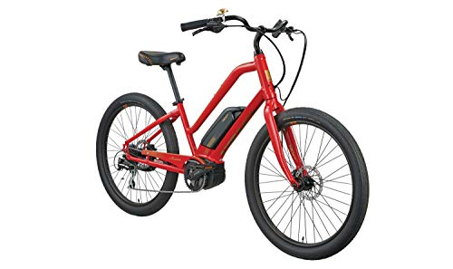 Learn More About Izip Zuma Luxe EL Step Thru, Cruiser Electric Bicycle, Red