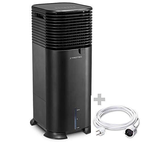 TROTEC Climatizador Air Cooler PAE 50 | Climatizador Evaporativo 4 en 1 | Enfriador de Aire | Ventilador | Purificador | Humidificador incluido el Cable alargador de PVC 5 m / 230 V / 1,5 mm²
