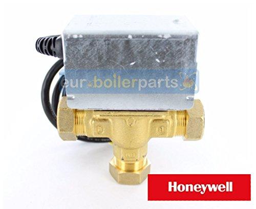 Válvula de 3 vías Honeywell de 22mm posición intermedia 230-240vac de racord