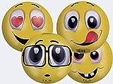 Smoby Pelota Emoji,13cm de Diámetro, Disponible en 2, Recibirás un Modelo Aleatorio, No se Realiza Preselección en Almacén, A Partir de 18 Meses (50986)