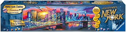 Ravensburger Malen nach Zahlen 28899 - Leuchtendes New York - Perfektes Malergebnis durch hochwertiges Künstlerzubehör, ohne Rahmen