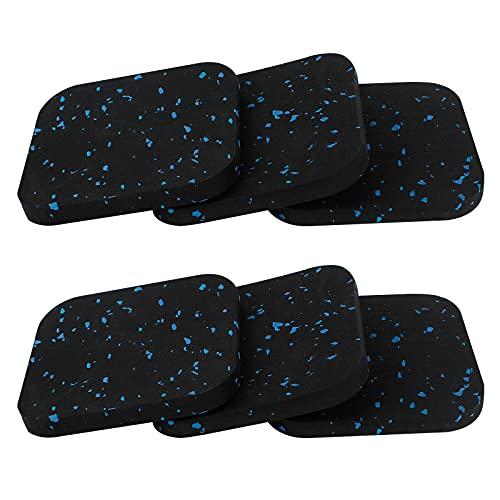 Bigxin 6pcs Tapis Anti-Vibration Pour Machine à Laver, Patins Anti Vibration En Caoutchouc Amortisseurs Anti-Vibrations Pour Tapis Roulant,Sèche-Linge, Réfrigérateur 10 * 10 * 0.9 Cm