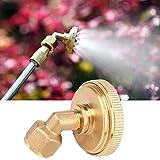 Omabeta Buse d'atomisation Forme de brumisation buse de Jardin à Forte résistance G1 / 4 Filetage Femelle matériau en Laiton pour Fleurs de Plantes(7 Eyes Copper Elbow)