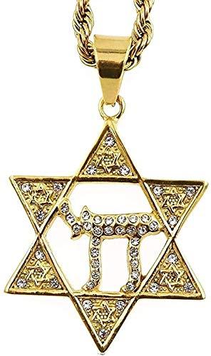 FACAIBA Halskette Jüdischer Stern der Halskette Langkettige Halskette Frauenmode Halskette für Frauen Männer Geschenk