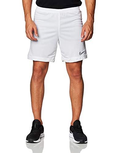 Nike Men's Dry Academy Soccer Short (White/White/Black, L)