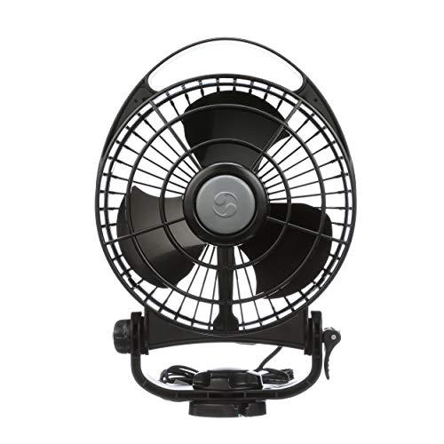 """Caframo Bora. 12V Marine Fan. Direct Wire, Low Draw, 5000 Hour Motor Life. Black, 6.5"""" x 3.0"""" x 9.5"""""""