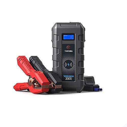 Z&LEI Terrinador de Salto de automóviles, 20800mAh 12V 2000A Peak Emergency Starter Charger Wireless Power Bank Booster Start