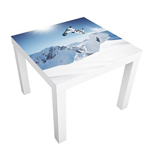Apalis Möbelfolie für IKEA Lack Klebefolie Dekorfolie Fliegender Snowboarder 55 x 55cm