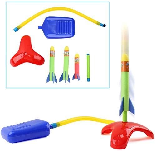 deAO Lanzador de Cohetes Infantil Salta y Lanza Cohetes Playset Conjunto Juego...