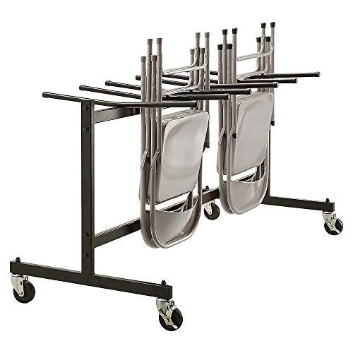 Lorell Folding Chair Trolley, Black