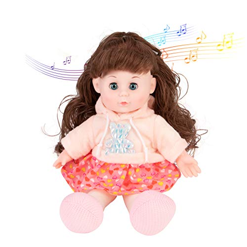 Music Baby Dolls is Equipped with The Function of Playing Music, Soft Dolls with Open / Close Eyes, 13 inches - Children's Gift.
