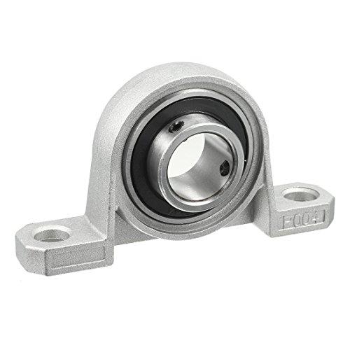 uxcell Kp004 20mm Bore Zinc Alloy Inner Ball Mounted Pillow Block Insert Bearing