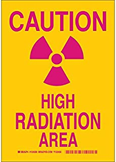 Brady 124303 Radiation and Laser Sign, Legend