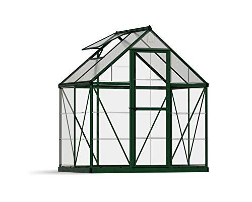 Palram HG5504G Hybrid Hobby Greenhouse, 6' x 4' x 7', Forest Green