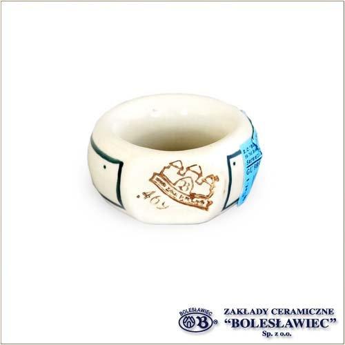 [ZakladyCeramiczneBoleslawiec/ザクワディボレスワヴィエツ陶器]ナプキンリング-du52ポーリッシュポタリー