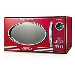 Nostalgia RMO400RED Retro 0.9 Cubic Foot Microwave