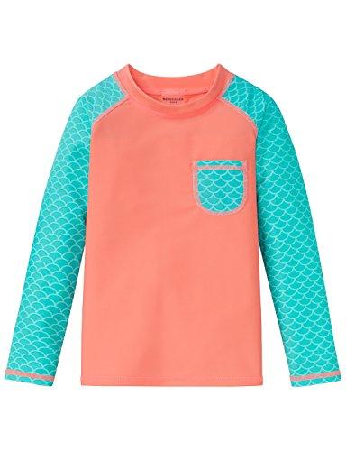 Schiesser Seepferdchen Selina Bade-Shirt,Strandkleid UV-Schutz Mädchen,Gelb (Apricot 603), 128