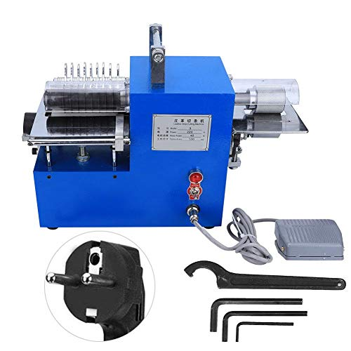 Atyhao LZ-3 riemsnijmachine, automatische krimpslang, leer, snijmachine, elektrische snijder voor leer, snijder, rechte papieren zak