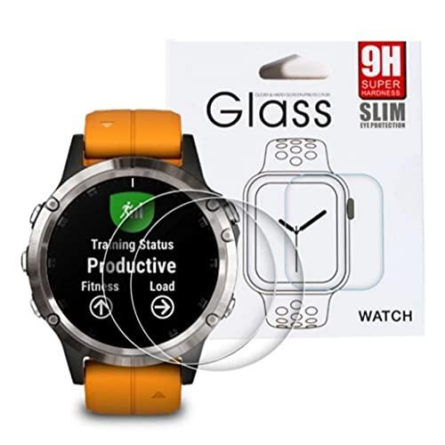 [2Pack] Protector de pantalla compatible con reloj Garmin Forerunne 245/Forerunne 245 Music, cristal templado Antiarañazo, Anti-Rasguños reduce huellas dactilares (Para Forerunne 245)