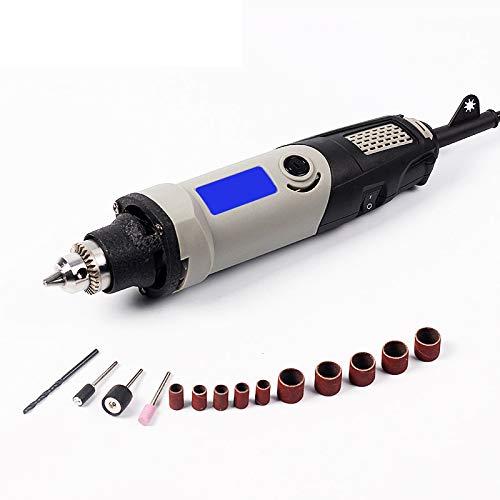 Mini levigatrice elettrica da 400 W Variable Speed Grinder Utensili multiuso Smerigliatrice manuale 5000 – 28000 giri/min, 0,6 – 6,5 mm, trapano elettrico fai da te, mini trapano elettrico