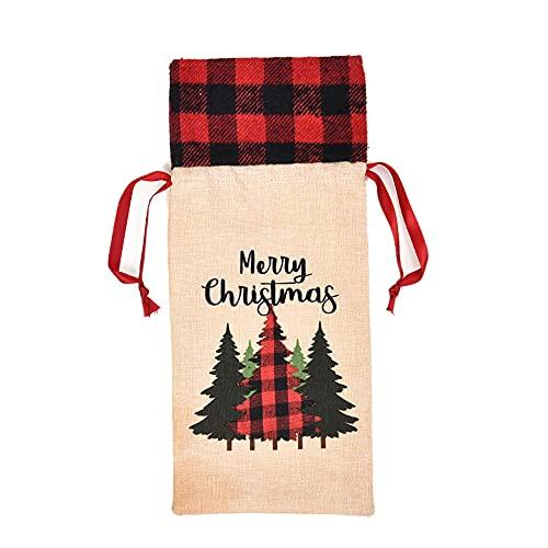 Weituoli Decoración de Navidad para botellas de vino, decoración de Navidad, bolsas de botella de vino de Navidad, bolsas para botellas de vino de Navidad, mesa, decoración de regalo