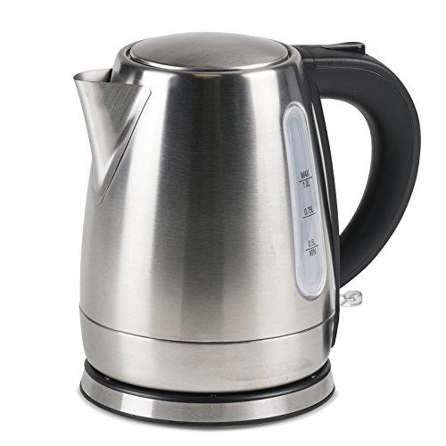 #0618 Kompakter, kabelloser Camping Wasserkocher 1 Liter Edelstahl nur 1000W • Tee Kessel Wasserkessel Kocher Küche Outdoor 1L