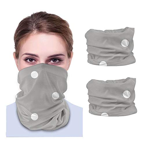 GSNWFG Perro Con Gafas Lunares Variedad de Toallas para la cara Unisex Multiusos Pañuelo y Máscara de Protección del Cuello con Bolsillo Interior (2pcs) Negro