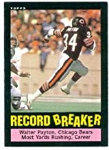 Walter Payton football card (Chicago Bears) 1985 Topps #6