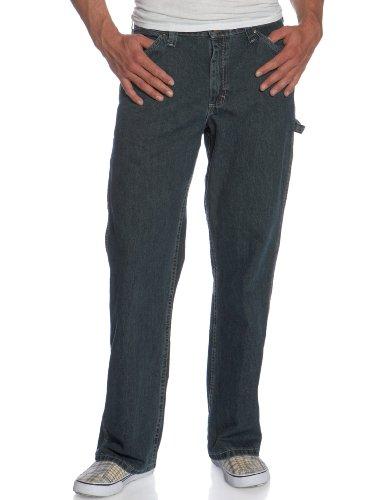 Lee Men's Dungarees Straight Leg Carpenter Jean, Quartz Stone, 36W x 32L