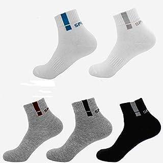 5 Pares Calcetines para Hombre y Mujer - Deportivos Corto Malla Transpirable Deporte Colores de Algodón Running Compresión Ligera Hombres Transpirables