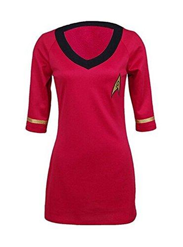CosDaddy/ Cosplay Kostüm weiblich Betriebsart Kurzarm Uniform Rot (M)