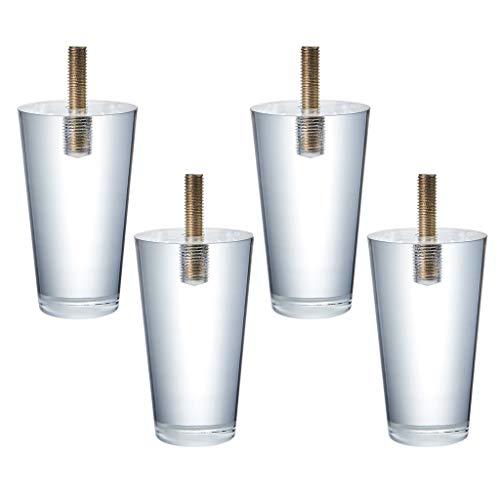 M-JJZX Acryl Meubilair Poten, 4 STKS Duidelijk Glas DIY Vervanging Meubilair Voeten voor Boekenkast Tafel Kabinet
