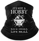 It's A Post Apocalyptic Life Skill,Blacksmith Gift Seamless Winter Neck Gaiter Face Mask Warmer Balaclava Scarf Bandana-Black-One Size