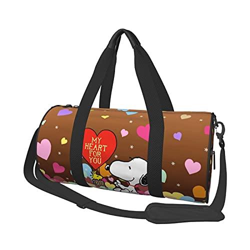 Snoopy Bolsa de viaje de corta distancia de gran capacidad para oficina, viajes, natación, fitness, moda, impermeable, portátil, bolsa de viaje